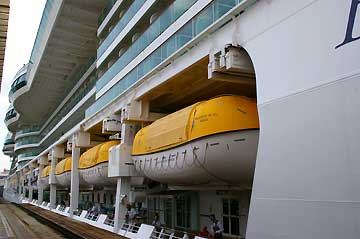 Picture of The Brilliance of the Seas Cruise Ship in the Panama Canal