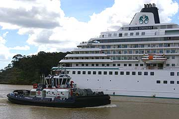 The Crystal Symphony in the Panama Canal