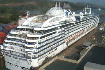 The Island Princess in the Miraflores Locks