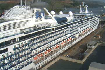 The Island Princess Cruise Ship in the Panama Canal