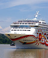 Picture of a Cruise Ship in the Panama Canal