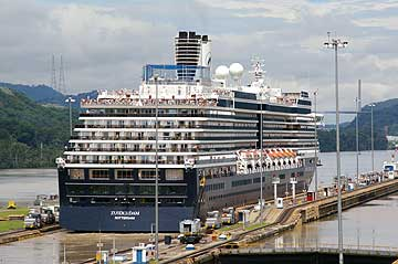 The Zuiderdam Cruise Ship in the Panama Canal