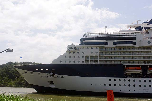 The Celebrity Constellation Side View In Panama Canal