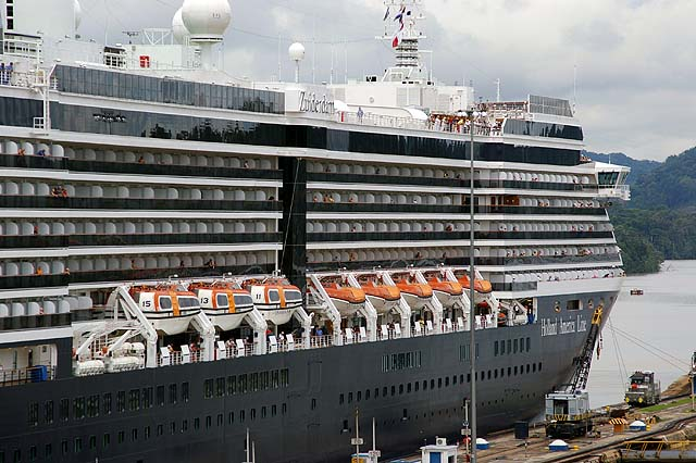 The MS Zuiderdam Cruise Ship Side View